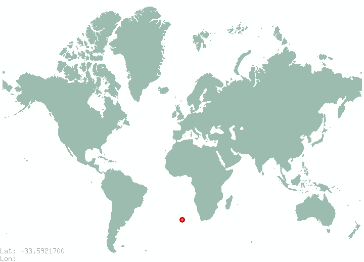 San Bernardo in world map